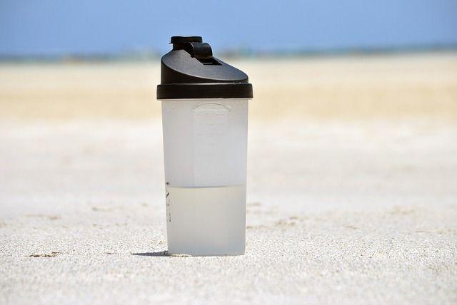 botella, el agua, de plástico